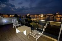 Fascinating view on the riverbank - Hotel Lanchid 19 - suite with terrace - design hotel Budapest